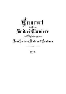 Концерт для трёх клавесинов и струнных No.2 до мажор, BWV 1064: Концерт для трёх клавесинов и струнных No.2 до мажор by Иоганн Себастьян Бах