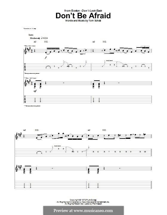 Don't Be Afraid (Boston): Для гитары с табулатурой by Tom Scholz