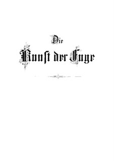 Искусство фуги, BWV 1080: No.1-5 by Иоганн Себастьян Бах