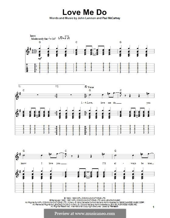Love Me Do (The Beatles): Для гитары (с текстом) by John Lennon, Paul McCartney
