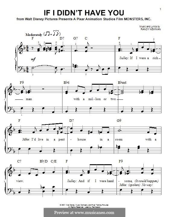 If I Didn't Have You (Billy Crystal and John Goodman): Для начинающего пианиста by Randy Newman