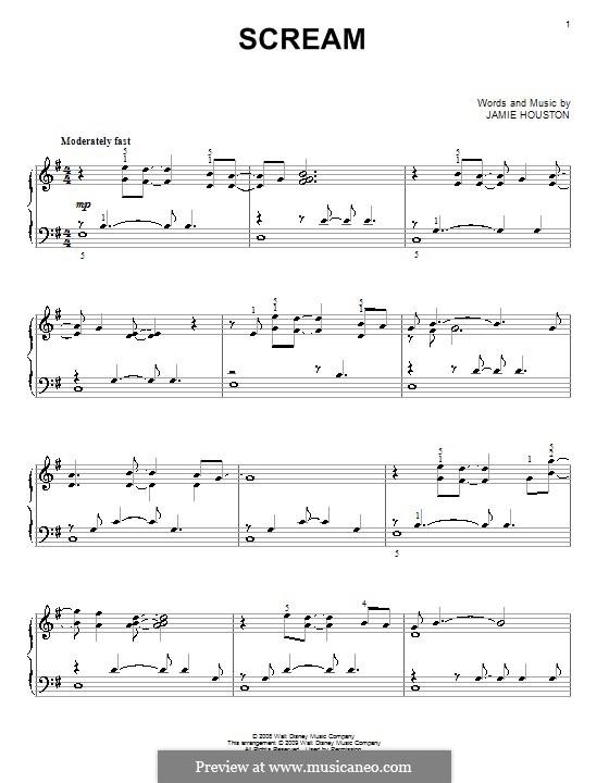Scream (High School Musical 3): Для фортепиано by Jamie Houston