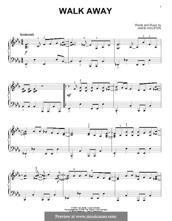 Walk Away (High School Musical 3): Для фортепиано by Jamie Houston