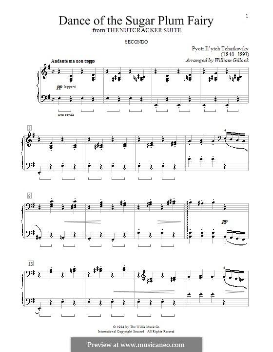 No.3 Танец феи Драже, для фортепиано: For four hands by Петр Чайковский