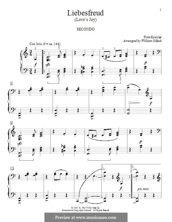 Liebesfreud: Для фортепиано by William Gillock