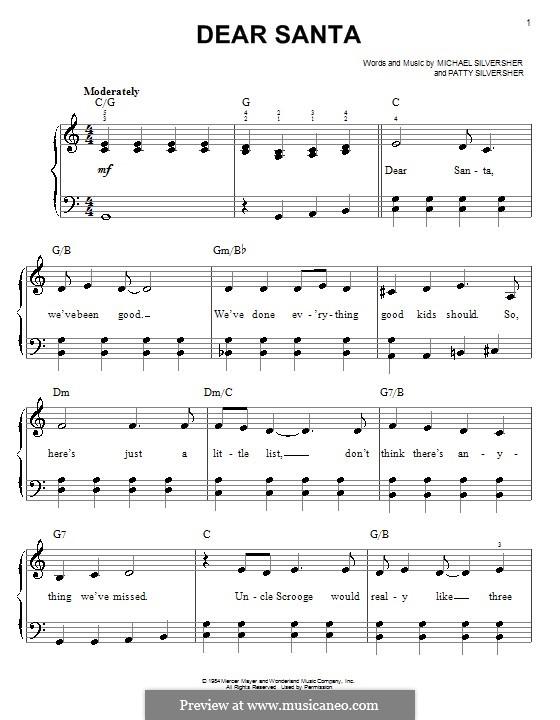 Dear Santa: Для начинающего пианиста by Patty Silversher