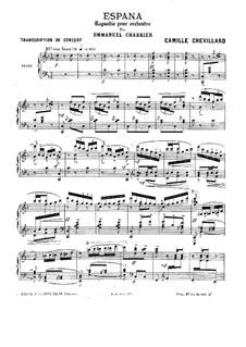 Испания : Для фортепиано by Эммануэль Шабрие