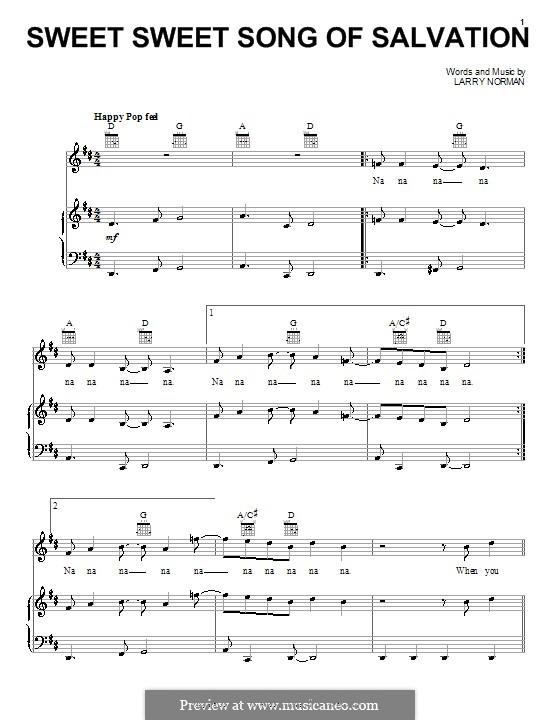 Sweet Sweet Song of Salvation: Для голоса и фортепиано (или гитары) by Larry Norman