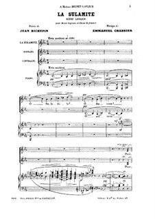 La Sulamite: Клавир с вокальной партией by Эммануэль Шабрие