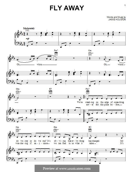 Fly Away (The Cheetah Girls): Для голоса и фортепиано (или гитары) by Jamie Houston