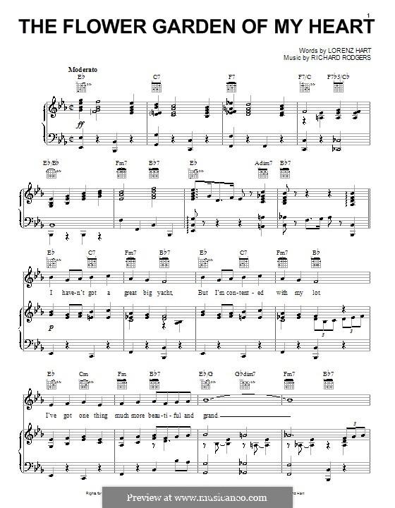 The Flower Garden of My Heart: Для голоса и фортепиано (или гитары) by Richard Rodgers