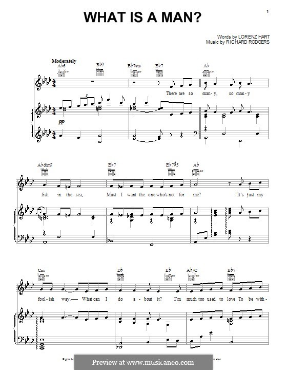 What is a Man?: Для голоса и фортепиано (или гитары) by Richard Rodgers