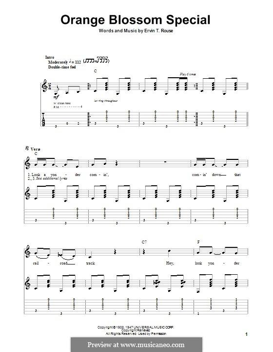 Orange Blossom Special: Гитарная табулатура by Ervin T. Rouse