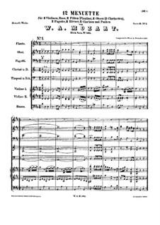 Двенадцать менуэтов для оркестра, K.585: Двенадцать менуэтов для оркестра by Вольфганг Амадей Моцарт