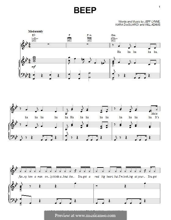 Beep (Pussycat Dolls): Для голоса и фортепиано (или гитары) by will.i.am