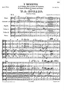 Два менуэта для оркестра, K.604: Два менуэта для оркестра by Вольфганг Амадей Моцарт