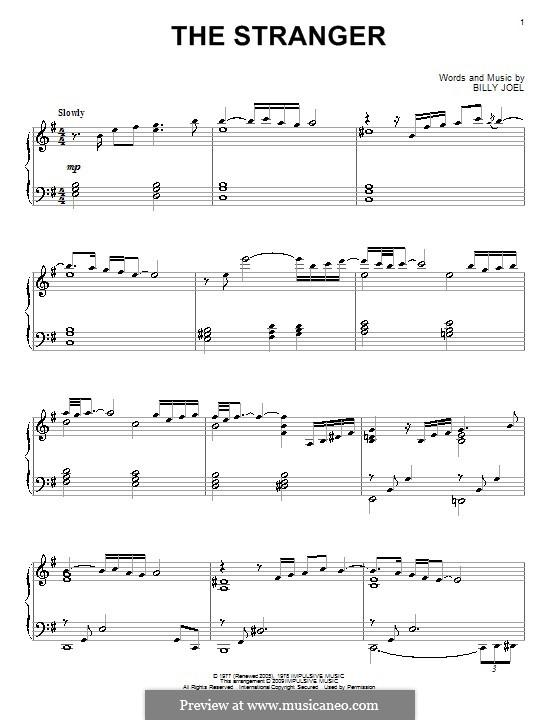 The Stranger: Для фортепиано by Billy Joel