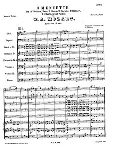 Три менуэта для оркестра, K.363: Три менуэта для оркестра by Вольфганг Амадей Моцарт