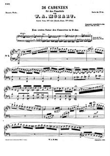 Тридцать шесть каденций, K.624: Тридцать шесть каденций by Вольфганг Амадей Моцарт