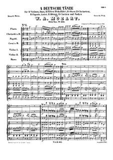 Четыре немецких танца, K.602: Четыре немецких танца by Вольфганг Амадей Моцарт