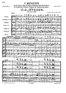 Четыре менуэта, K.601: Четыре менуэта by Вольфганг Амадей Моцарт