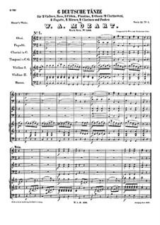 Шесть немецких танцев, K.536: Партитура by Вольфганг Амадей Моцарт