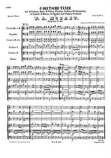 Шесть немецких танцев, K.567: Шесть немецких танцев by Вольфганг Амадей Моцарт