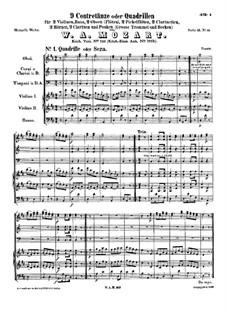 Девять контрдансов или кадрилей, K.510: Девять контрдансов или кадрилей by Вольфганг Амадей Моцарт