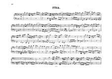 Фуга для органа соль минор, K.401: Версия для фортепиано в четыре руки – партии by Вольфганг Амадей Моцарт