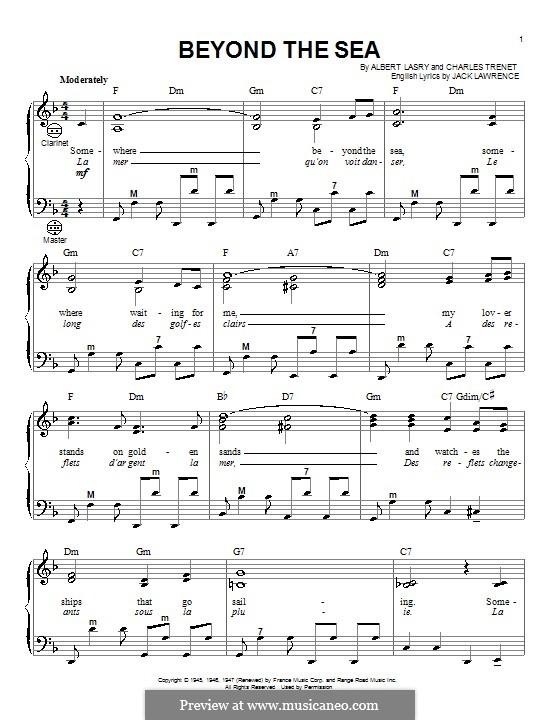 Beyond the Sea: Для аккордеона (Gary Meisner) by Albert Lasry, Charles Trenet