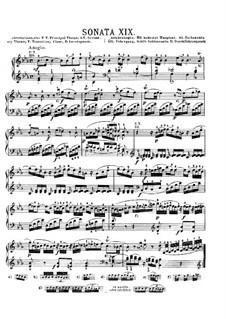 Соната для фортепиано No.4 ми-бемоль мажор, K.282: Для одного исполнителя by Вольфганг Амадей Моцарт