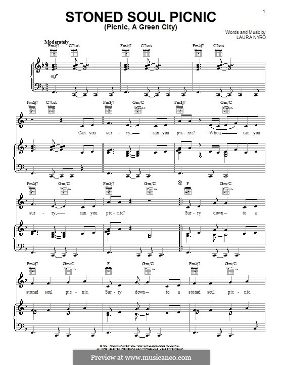 Stoned Soul Picnic (Picnic, a Green City): Для голоса и фортепиано (или гитары) by Laura Nyro