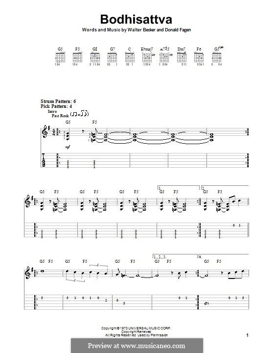 Bodhisattva (Steely Dan): Для гитары (очень легкая версия) by Donald Fagen, Walter Becker