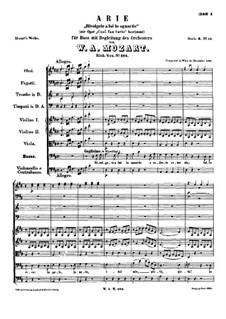 Rivolgete a lui lo sguardo: Партитура by Вольфганг Амадей Моцарт