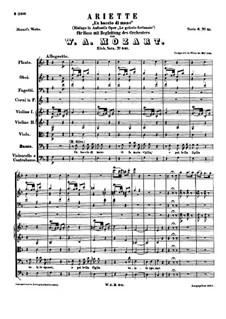 Un Baccio di Mano, K.541: Un Baccio di Mano by Вольфганг Амадей Моцарт