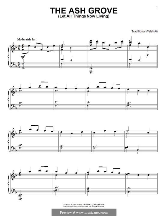 The Ash Grove: Для фортепиано by folklore