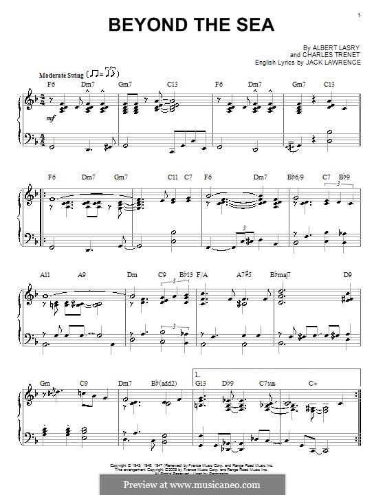 Beyond the Sea: Для фортепиано by Albert Lasry, Charles Trenet