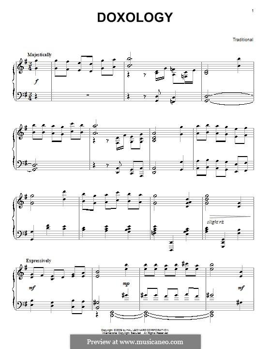 Doxology: Для фортепиано by folklore