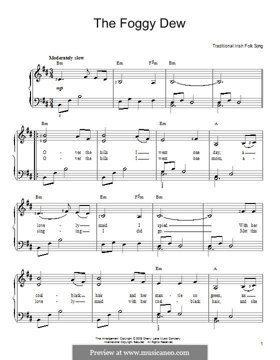 The Foggy Dew: Для фортепиано (легкий уровень) by folklore