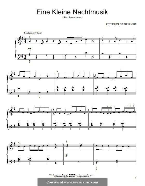 Аллегро: Для начинающего пианиста by Вольфганг Амадей Моцарт