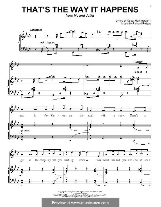 That's the Way it Happens: Для голоса и фортепиано (или гитары) by Richard Rodgers