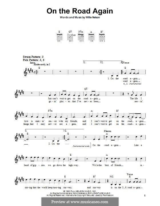 On the Road Again: Для гитары (очень легкая версия) by Willie Nelson