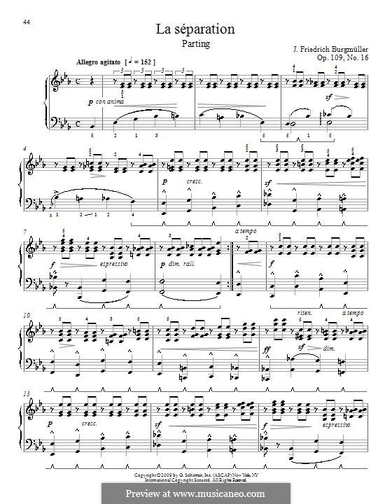 Этюд No.16: Для фортепиано by Иоганн Фридрих Бургмюллер