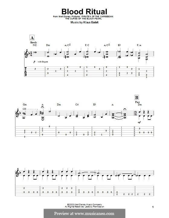 Blood Ritual: Для гитары (очень легкая версия) by Klaus Badelt