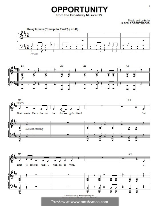 Opportunity: Для голоса и фортепиано (или гитары) by Jason Robert Brown