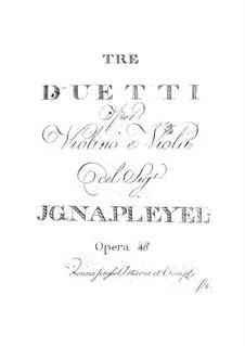 Три дуэта для скрипки и альта, Op.46: Партии by Игнац Плейель