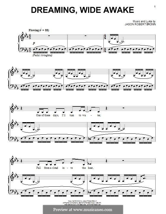 Dreaming, Wide Awake: Для голоса и фортепиано (или гитары) by Jason Robert Brown