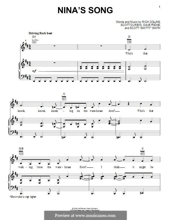 Nina's Song (Imagination Movers): Для голоса и фортепиано (или гитары) by Dave Poche, Rich Collins, Scott Durbin, Scott Smith