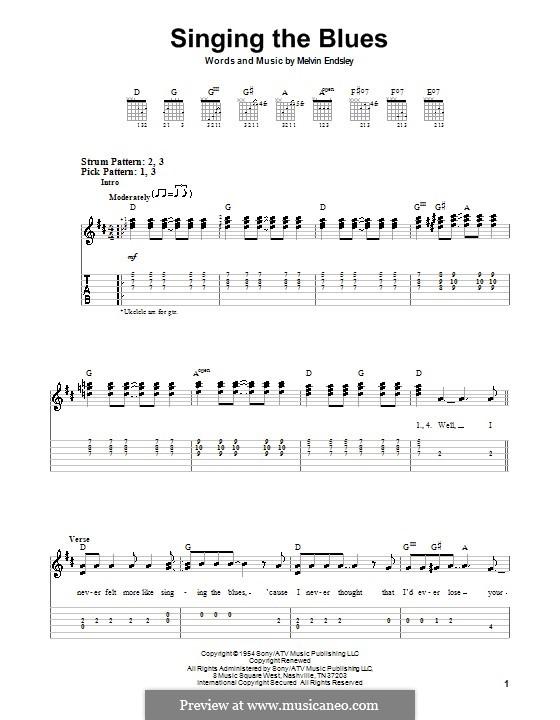 Singing the Blues: Для гитары (легкий уровень) (Guy Mitchell) by Melvin Endsley