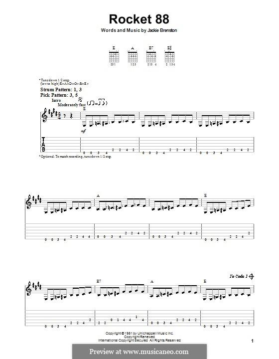 Rocket 88: Для гитары (очень легкая версия) by Jackie Brenston